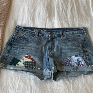 Madewell Patchwork Jean Shorts